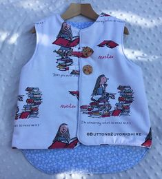 Gilet, Ronald Dahl,s Matilda gilet, cozy and warm, outdoor play. by on Etsy Dahl, Outdoor Play, Matilda, Tank Man, Cozy, Children, Clothing, Mens Tops, Christmas
