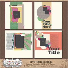 Iffy's Templates Set.6 www.peppermintcreative.com #digiscrap