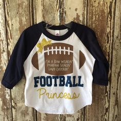 Baseball raglan shirt for every little football fan. Available in 5 color choices.