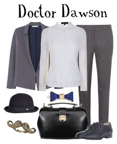 """Doctor Dawson / Basil the Great Mouse Detective"" by waywardfandoms ❤ liked on Polyvore featuring MANGO, Dorothy Perkins, Forever Unique, Steve Madden, Blu Bijoux, Overland Sheepskin Co., L. Erickson, disney, disneybound and smartcasual"