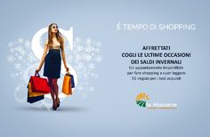Campagna pubblicitaria Centro Commerciale Le Masserie - Advertising Layout Magazine #advertising #shoppingtime #sale #shoppingcentre #magazine #layout #graphic #design #inspiration #campaign #pubblicità #media #creative #ideas #photograpy  www.euromanagement.it