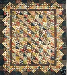 Pinwheels for Caroline Quilt Pattern by Lori Smith | eBay  I just bought this pattern.  Can't wait to get started.