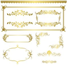 Golden decor calligraphy with frame and borders vector 10 - WeLoveSoLo Free Vector Graphics, Eps Vector, Vectors, Custom Motorcycle Paint Jobs, Golden Decor, Page Borders Design, Free Website Templates, Scroll Design, Gold Pattern