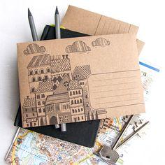 Почтовый конверт с ч/б печатью и областью для адреса. Клапан не имеет клеевого сло�