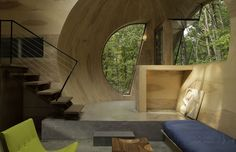 Ex of In House, 3D printing, locally sourced materials, Steven Holl Architects, wooden house, green architecture, geothermal energy, solar energy, thin film solar
