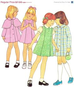 Holiday SALE 20% Off Vintage 1976 Girls Dress or by patternpalooza Shop Now