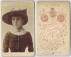 CDV Photograph Young Victorian Lady with Large Hat Carte de Visite Barry of Hull