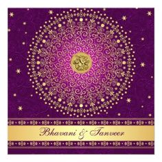 purple south asisan wedding save the date - Google Search