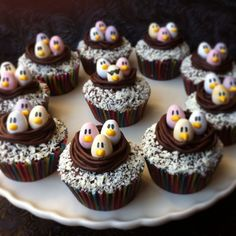 Cheeky chicks Easter cupcakes