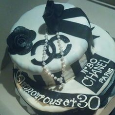 Coco chanel themed cake