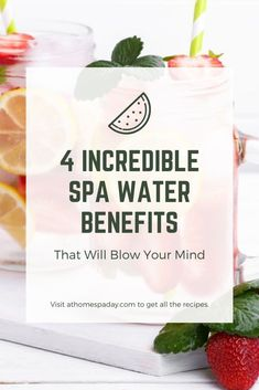 These invigorating spa water recipes provide an instant pick me up. They contain one special ingredient that you won't find in any other spa water recipe. Orange Water Recipes, Blueberry Water, Water Benefits, Spa Day At Home, Spa Water, Diy Spa, Blow Your Mind, Spa Party, Infused Water