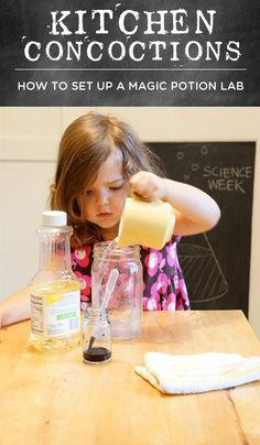 Kitchen Potions - How to set up a magic potion lab #science