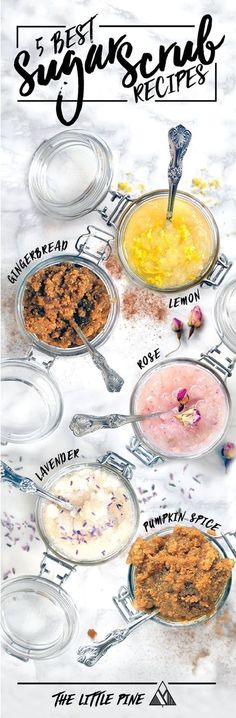 The best DIY projects & DIY ideas and tutorials: sewing, paper craft, DIY. DIY Skin Care Recipes : Top 5 Homemade Sugar Scrub Recipes - 16 Must-Have DIY Beauty Recipes To Keep You Beautiful All Year Long -Read Sugar Scrub Homemade, Sugar Scrub Recipe, Homemade Body Scrubs, Homemade Gifts, Body Scrub Recipe, Recipe Ginger, Homemade Recipe, Homemade Facials, Diy Beauté