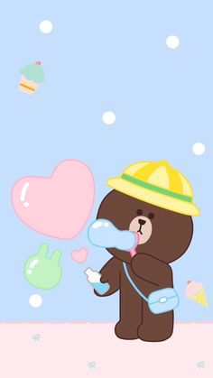 Little Land, Cony Brown, Cute Love Pictures, Baby Milestone Cards, Kawaii, Line Friends, Line Illustration, Baby Milestones, I Wallpaper