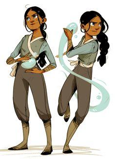 avatar the last airbender zutara Avatar Aang, Avatar Airbender, Team Avatar, Character Concept, Character Art, Disney Character Sketches, Character Types, Female Character Design, Concept Art