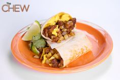 the chew -Michael Symon's SF Mission-Style Breakfast Burrito Bar The Chew Recipes, Chef Recipes, Brunch Recipes, Food Network Recipes, Breakfast Recipes, Brunch Foods, Brunch Ideas, Healthy Recipes, Restaurants
