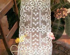 PDF Crochet pattern table runner -Crochet doily - Home decor - vintage  crochet