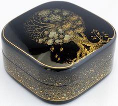 Petrov Yurii, Palekh lacquer box, Four Seasons Tree