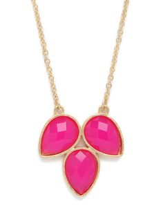 Triple Clover Pendant. This pink is amazing!