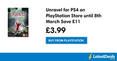 Unravel for PS4 on PlayStation Store until 8th March Save £11, £3.99 at PlayStation