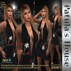 Patulas Susan Dress Free SL Group Gift Group gift from Patulas House: Susan dress. Standard, fitmesh and mesh body sizes included. This gift is free! [...]