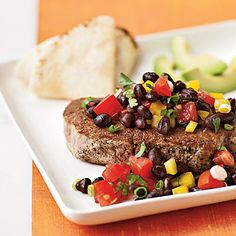 Coriander-Crusted Tuna with Black Bean Salsa | 23 Quick And Delicious Fish Dinners