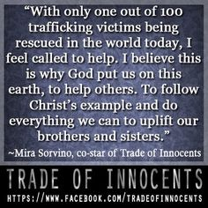 Mira Sorvino - Trade of Innocents. Re-PIN and share to support the effort to end sex trafficking!
