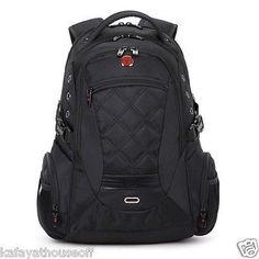 New Unisex Swissgear Backpacks Laptop Bag Travel Bags Hiking Backpack Black