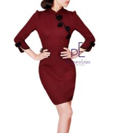 This elegant dress has been made from 100% Polyester.This dress has been made from super polyester.The details include:high neckline,3/4 sleeve,lace overlay,high waist,concealed back zipper,Pencil skirt.The dress has been cut with a form fitting shape