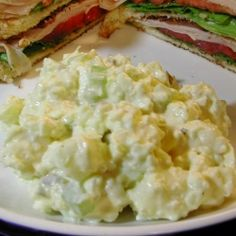 6/7/13 THIS IS THE ONE I MADE. VERY GOOD. Sweet Pickle Relish Potato Salad About 2 pounds of potatoes (5 MED), peeled and cubed 2 celery stalks, finely diced 3 eggs, hopped 1 medium onion, finely chopped  For the Dressing:  ¾ cup mayonnaise 3 tablespoons sweet pickle relish (or to taste) 1 teaspoon yellow mustard Salt and pepper to taste