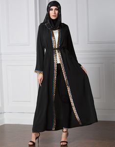 b4535bbc9 dress for you design. Black AbayaBelted CardiganDress With CardiganBlack  CardiganLong CardiganMuslim ...