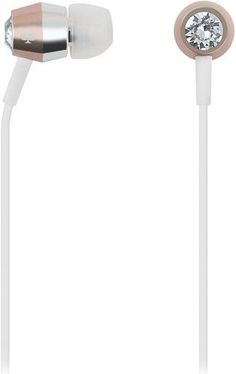 kate spade new york - Earbud Headphones - Crystal/Rose Gold/Silver/White