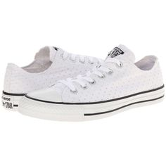 Converse Chuck Taylor All Star Perfed Canvas Ox Women's Shoes ($55) ❤ liked on Polyvore featuring shoes, sneakers, print sneakers, canvas lace up shoes, perforated sneakers, converse sneakers and converse shoes