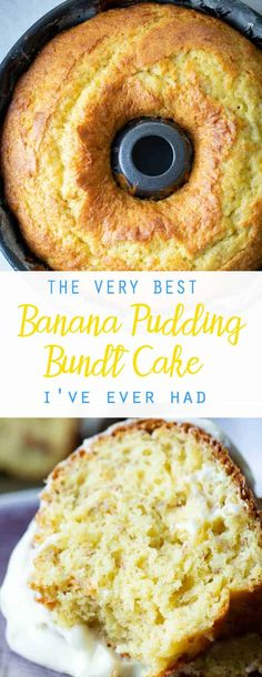 The BEST Banana Pudding Cake (Bundt Cake Recipe) - Oh Sweet Basil I mean, yes we could have used a different title that isn't as long as, The Very Best Banana Pudding Bundt Cake I've Ever Had, but it's the most moist bundt cake ever! Banana Bundt Cake, Banana Pudding Cake, Banana Pudding Recipes, Breakfast Bundt Cake, Pudding Desserts, Banana Bread, Banana Cake Recipe With Cake Mix, Best Banana Cake Recipe Moist, Best Pound Cake Recipe Ever