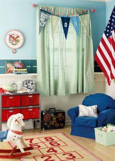 kid's room design - Home and Garden Design Ideas Boys Curtains, Kids Room Design, Better Homes And Gardens, Boy Room, House Design, Garden Design, Home Interior Design, Kids Bedroom, Playroom