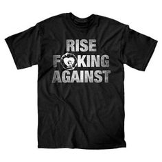 Rise Against FD Up Mens Tee - Rock out with this Rise Against FD Up Mens T-Shirt Size Medium! This product is a Rise Against t-shirt, 100% cotton, seamless collar, taped neck and shoulders, officially licensed by the band.