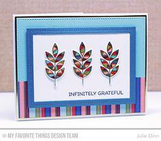 Handmade card from Julie Dinn featuring Free Spirit 6x6 Paper Pack #mftstamps
