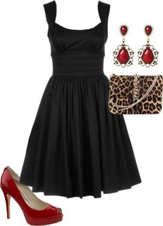 """Black cocktail dress"" by debbiedonothing on Polyvore"
