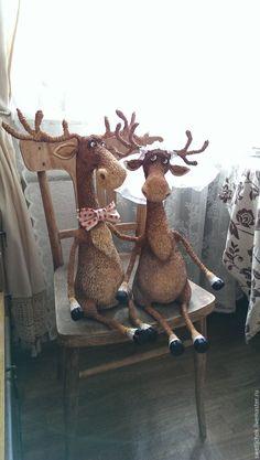 """Купить Лосики """"Ты да я,да мы с тобой!"""" - лось, свадьба, свадебный подарок, семья, молодожены, авторская игрушка"""