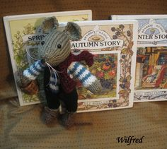 Wilfred       From the enchanting stories of by dollsandbunnies, $18.00