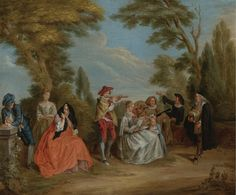 Lancret, Nicolas (follower) - A CONCERT IN THE PARK  1690-1743