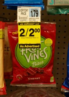 HOT Deals! Rite Aid: Free Fruit Vines Candy See More from Rite Aid Coupon Matchups
