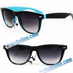 HOTLOVE Premium Sunglasses UV400 Lens Technology - Unisex P1020 - Blue Vintage Design Black Frame Glassy Finish, Light Weighted, Detailed with Dark Gradient - Perfectly Match Everyday Apparel for Women & Men by Cuffu Online. $9.99. Our sunglasses will take good care of your vision protecting your eyes from harmful sun rays. These sunglasses feature UV400 Lens Technology, absorbing over 99% of harmful UVA and UVB spectrums.