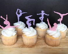 Gymnastics Party Gymnastics Cupcake toppers Edible by Silvermisted
