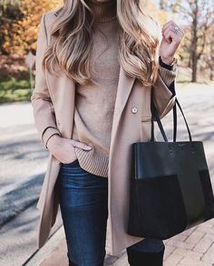 Camel on camel and minimalistic acccessories, take a tip on chic midweek dressing a la @theteacherdiva | Get ready-to-shop details with www.LIKEtoKNOW.it | http://liketk.it/2pz3s #liketkit