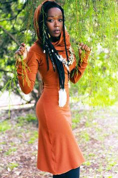 "manakahandmade: ""Beautiful stretchy Cotton Lycra Pixie Dress in Burnt Orange. Beautiful African Women, African Beauty, Beautiful Black Women, Bohemian Mode, Boho Chic, African Fashion Dresses, African Dress, Dirndl Rose, Boho Fashion"