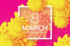 8 March. Paper craft Flower on Behance