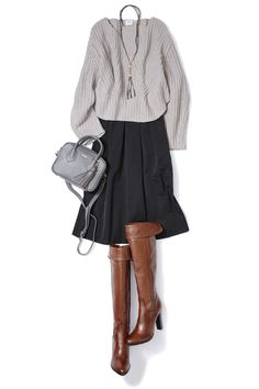 Love this outfit, but would prefer the skirt in a charcoal or dark gray