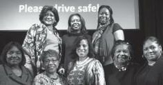 National Coalition of 100 Black Women partner with Representative Mia McLeod against domestic violence Front row (l-r): Percalee Morris, Maryann Wright, Representative Mia McLeod, Mary Skinner Jones, and Monica Butler. Back row (l-r): Mary Mi...