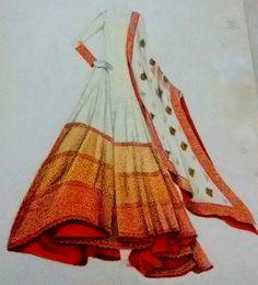 croqui for sarees - Google Search